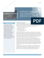 Datasheet SRX5400 5600 5800 Service Gateways