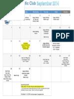 Sept 2014 Calendar