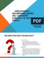 Inhabilidades e Incompatibilidades Cp y Rf