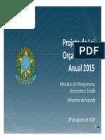 Apresentação do PLOA 2015