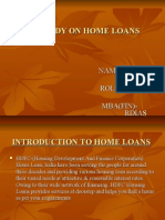 A Study on Home Loans