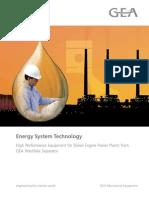 GEA WS Energy System Technology-Diesel Engine