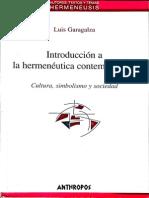 Introducción a La Hermenéutica Contemporánea