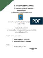 Implementación y Optimización de Una Ruta Turistica en La Región de Cajamarca