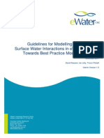 Guidelines for Modelling Groundwater-Surface Water Interaction in eWater Source