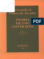 Lopez de Zavalia Fernando Teoria de Los Contratos TOMO 1 Parte General