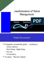 transformation of talent management