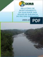 Relatório MQA Rio Das Garças 2003-2005