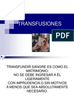 TRANSFUSIONES 2013