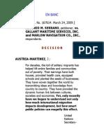 1. Antonio Serrano vs Gallant Maritime
