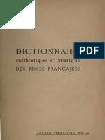 Philippe Martinon Dictionnaire Des Rimes Francaises