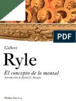 Ryle, Gilbert-El Concepto de Lo Mental.