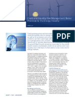 Credit and Liquidity Risk Management Better Practices for the Energy Industry