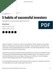 5 Habits of Successful Investors
