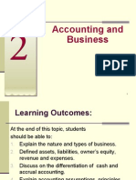 Topic 2 - Accounting & Business