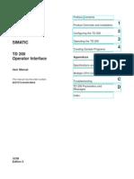 Manual TD 200