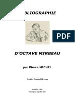 """Pierre Michel, """"Bibliographie d'Octave Mirbeau"""""""