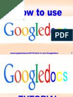 How to Use Googledocs