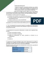 Ejercicios de Evaluación de Proyectos