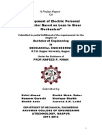 Design & Development of Electric Personal Transporter