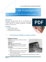 Trabajo de Investigación - Terremotos Catastróficos