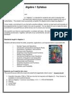 algebra 1 syllabus2014