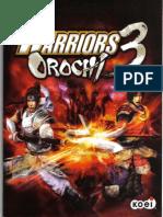 Warriors Orochi 3 (PS3) Instructions Manual