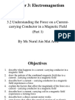 3.2 (Part 1) Understanding the Force on a Current-carrying Conductor in a Magnetic Field