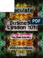 Peculate - Business Lesson 101
