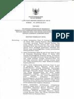Keputusan Menteri Pekerjaan Umum Nomor 225/KPTS/M/2014 tentang Pelimpahan Kewenangan Pemberian Persetujuan Substansi Rancangan Peraturan Daerah tentang Rencana Rinci Tata Ruang Kabupaten/Kota Kepada Gubernur Sumatera Barat