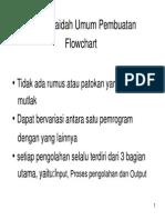Kaidah kaidah Umum Pembuatan Flowchart