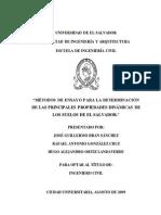 Métodos de Ensayo Para La Determinación de Las Principales Propiedades Dinámicas en Los Suelos de El Salvador