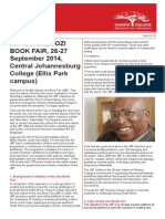 Jozi Book Fair Press Kit 2014