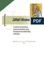 Johari windowexplain