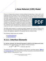 4.12. Cohesive Zone Material (CZM) Model