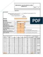 Thickness Calculations as Per ASME B 31.3, 31.4 and 31.8