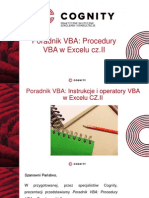 Kurs VBA - Procedury VBA w Excelu Cz.II.pptx