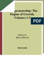 Entrepreneurship - The Engine of Growth