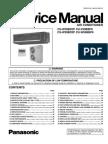 Panasonic CS-W50BD2P CU-V50BBP8 CU-W50BBP8 Service Manual Repair Guide
