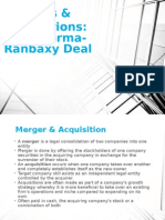 Merger Acquisition-Sun Pharma Ranbaxy
