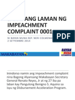 Sapat Ang Laman Ng Impeachment Complaint 001 [Presentation for the Justice Committee]