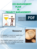 resource management plan in Project management