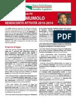 Rendiconto 2010- 2014 Antonio Mumolo