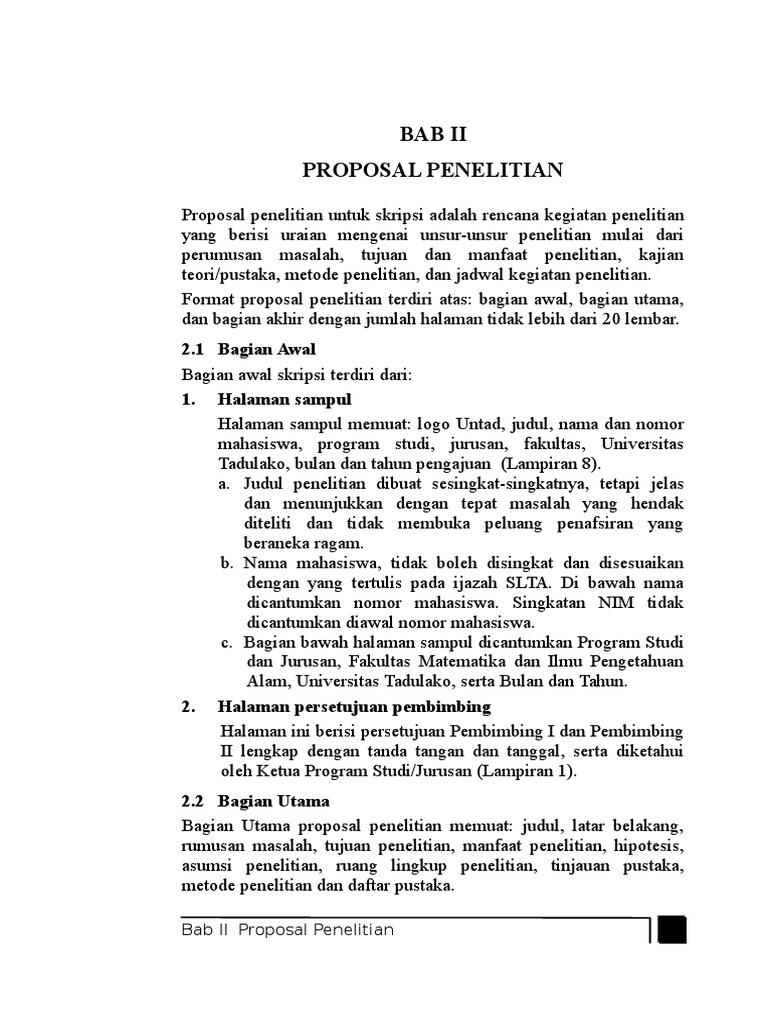 Bab 2 Panduan Proposal