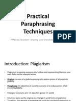 Paraphasing method