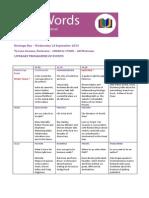 2014 ParkWords Programme