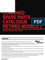Retired Model Parts Catalogue
