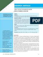 Serum Zinc Level in Patients