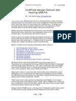 Cara Memiliki Blog Canggih Dg Modal Nol