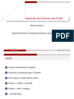 Scientific Computing With Python and CUDA